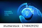 increasing creativity level....   Shutterstock .eps vector #1748429252