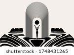 vector hand drawn illustration... | Shutterstock .eps vector #1748431265