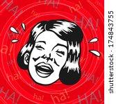 vintage retro clipart  woman... | Shutterstock .eps vector #174843755