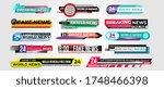 lower third news banner set.... | Shutterstock . vector #1748466398
