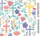 Christian Pattern Background...