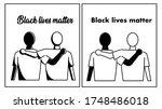 black lives matter. anti racism ... | Shutterstock .eps vector #1748486018