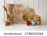 Rustic Backdrop Made With Dried ...