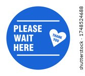 please wait here thank you... | Shutterstock .eps vector #1748524688