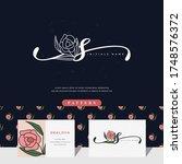 handwriting letter s logo...   Shutterstock .eps vector #1748576372