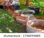 Steel Pipes And Concrete Rings...