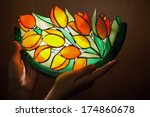 Handmade Stained Glass Lamp...