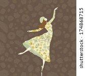 Dancer In Floral Dress On...