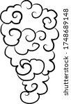 japanese clouds vector... | Shutterstock .eps vector #1748689148