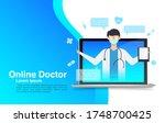 online medical advise or... | Shutterstock .eps vector #1748700425