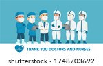 thank you doctors and nurses...   Shutterstock .eps vector #1748703692