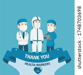 thank you doctors and nurses...   Shutterstock .eps vector #1748703698