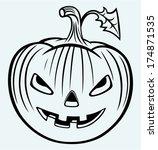 halloween pumpkin. image... | Shutterstock .eps vector #174871535