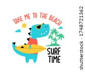 Cool Dinosaur Print Design With ...