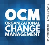 ocm   organizational change...   Shutterstock .eps vector #1748724248