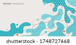 abstract modern background blue ... | Shutterstock .eps vector #1748727668