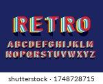 retro layered typography design ... | Shutterstock .eps vector #1748728715