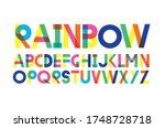 rainbow typography design...   Shutterstock .eps vector #1748728718