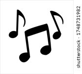 music notes  song  melody or... | Shutterstock .eps vector #1748731982
