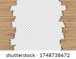 broken wood panels isolated on... | Shutterstock .eps vector #1748738672