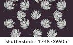 simple cute lotus floral... | Shutterstock .eps vector #1748739605