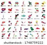 asia flag map pack  asian...   Shutterstock .eps vector #1748759222