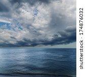 Dramatic Sky Over Darken Sea....