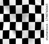Abstract Checkered Black And...