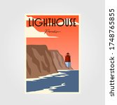 Lighthouse Poster Vintage...