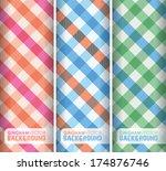 multicoloured gingham background | Shutterstock .eps vector #174876746