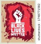 black lives matter. vector...   Shutterstock .eps vector #1748771582