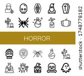 set of horror icons. such as... | Shutterstock .eps vector #1748778182
