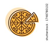 pizza vector icon. fast food...