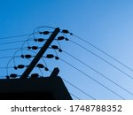 Electric Fence With Blue Sky...