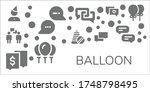 modern simple set of balloon...