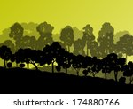 Forest Trees Silhouettes...