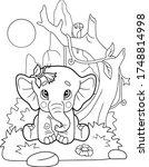 A Little Cute Elephant Cartoon...