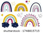 set of cute rainbows. cliparts... | Shutterstock .eps vector #1748815715
