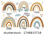 set of cute rainbows. cliparts... | Shutterstock .eps vector #1748815718
