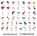 asia flag map pack  asian...   Shutterstock .eps vector #1748844818