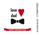 happy father s day label with... | Shutterstock .eps vector #1748845382