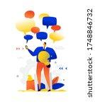 illustration of a businessman... | Shutterstock .eps vector #1748846732