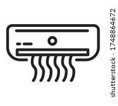 air conditioner black line icon....
