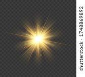 gold glitter star burst with... | Shutterstock .eps vector #1748869892