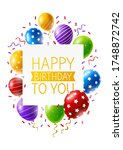 birthday greeting card with... | Shutterstock .eps vector #1748872742