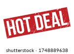 hot deal rubber stamp. red hot... | Shutterstock .eps vector #1748889638