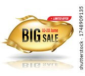 gold big frame banner and gold... | Shutterstock .eps vector #1748909135