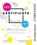 modern certificate template... | Shutterstock .eps vector #1748910452
