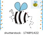 coloring book dot to dot. the... | Shutterstock .eps vector #174891422