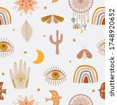 cute kids seamless pattern with ... | Shutterstock .eps vector #1748920652